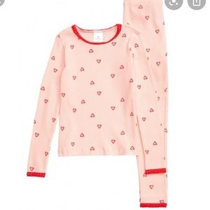 Rachel parcell thermal heart pajamas